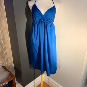 Old Navy Blue Halter Dress Large